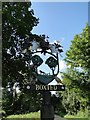 TL8251 : Boxted village sign (detail) by Adrian S Pye