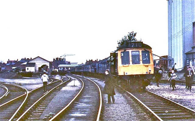 Abingdon railway station in 1970