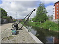 R5857 : Limerick - Old canalside crane by Healy's Field by Colin Park