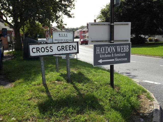 Cross Green sign