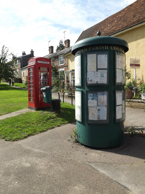 Debenham Village Notice Board & Telephone Box