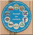 "TQ1383 : ""Through the porthole"" - mosaics under canal bridge by David Hawgood"