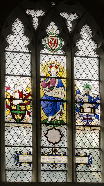 Stained glass window, St Peter's church, Nottingham by Julian P Guffogg