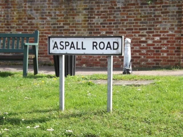 Aspall Road sign