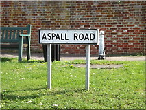 TM1763 : Aspall Road sign by Adrian Cable