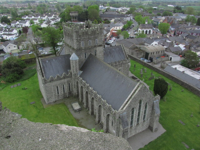 Kildare - St Brigid's Cathedral from Round Tower