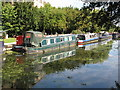 TQ1383 : Touchwood, narrowboat on Paddington Branch canal by David Hawgood