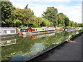 TQ1384 : Ben Gorton, narrowboat on Paddington Branch canal by David Hawgood