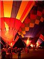 "NS7044 : ""Evening Glow"" at the Strathaven Balloon Festival by Gordon Brown"