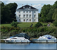 TQ1773 : Marble Hill House overlooking the River Thames by Mat Fascione