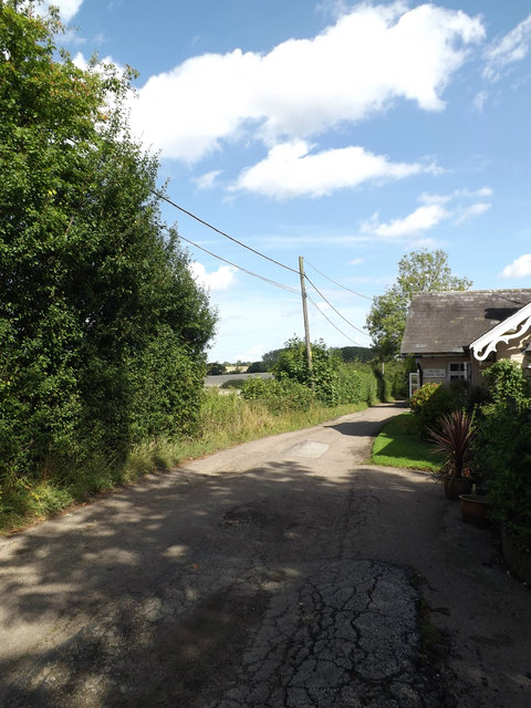 Lane near The old School