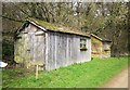 SP0713 : Sheds near Yanworth Mill by Derek Harper