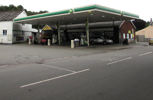 BP filling station and Spar shop, Usk