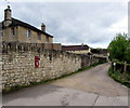 ST8059 : Postbox in an Avoncliff wall by Jaggery