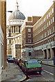 TQ3281 : Sunday in 1983 along Watling Street, City of London by Ben Brooksbank