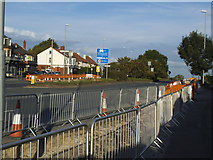 SE2534 : Cycle route construction, Stanningley Road by Stephen Craven