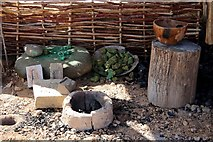 SH7783 : The smelting shelter at the Great Orme Bronze Age Mine by Steve Daniels