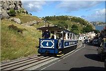 SH7782 : A tram on Ty-Gwyn Road by Steve Daniels
