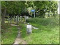 SE5710 : Trans Pennine Trail signs Owston Grange by Steve  Fareham