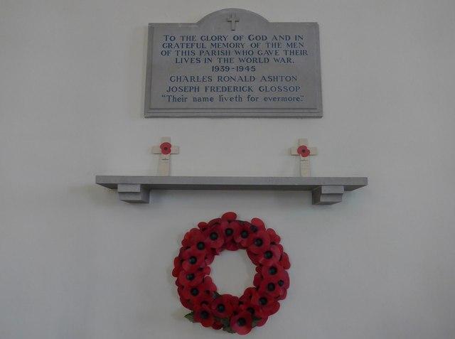 All Saints, Elton: memorial (c)