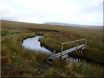 NY8221 : Footbridge, Connypot Beck by Michael Graham