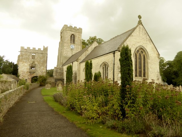 Church and tower, West Tanfield © Philip Platt :: Geograph Britain