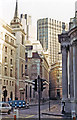 TQ3281 : Sunday in 1983 along Lothbury, City of London by Ben Brooksbank
