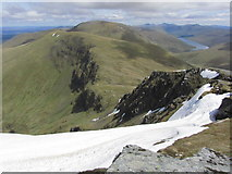 NN3543 : View towards Meall Buidhe & Beinn a' Chreachain from Beinn Achaladair by Colin Park
