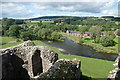 NY5329 : View from a castle keep by Graham Hogg