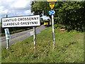 SO3914 : Sign for Llantilio Crossenny by Rob Purvis