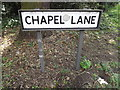 TM1171 : Chapel Lane sign by Adrian Cable