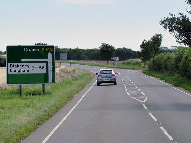 A148 near Sharrington