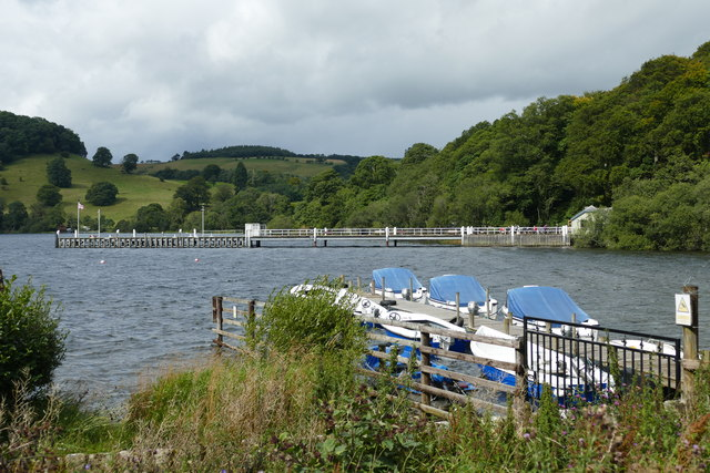 Boats for hire and landing stage