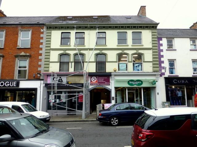 Work along Market Street, Omagh