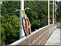 NY8464 : The stripey bikes of Haydon Bridge (4) by Oliver Dixon