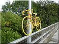 NY8464 : The stripey bikes of Haydon Bridge (6) by Oliver Dixon