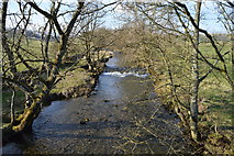 SD9058 : Weir, River Aire by N Chadwick