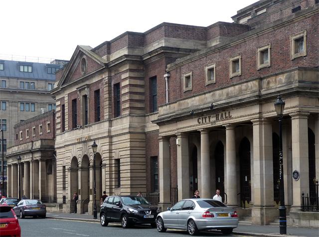 City Hall and Baths, Northumberland Road, Newcastle