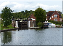 SP1976 : Knowle Bottom Lock No 47 and Bottom Lock Cottage by Mat Fascione