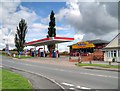 SP3654 : Gaydon Service Station by David Dixon