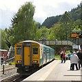 SH7956 : Train to Blaenau Ffestiniog leaving Betws-y-Coed by Gerald England