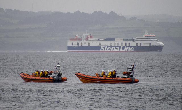 Two Lifeboats Off Bangor