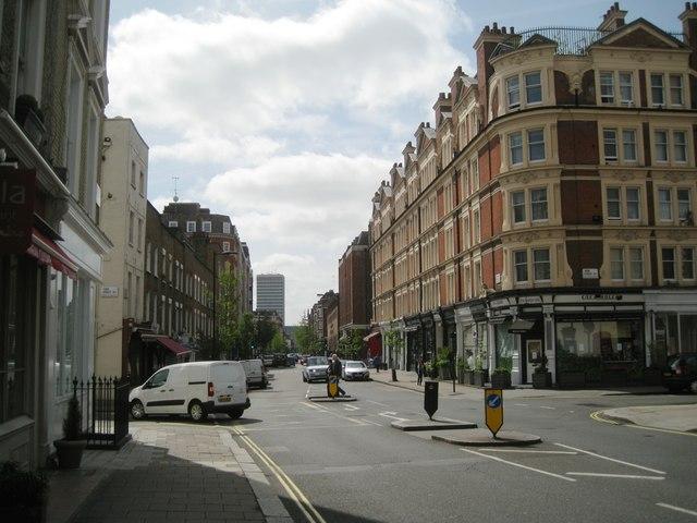 South on Seymour Place, Marylebone, London W1