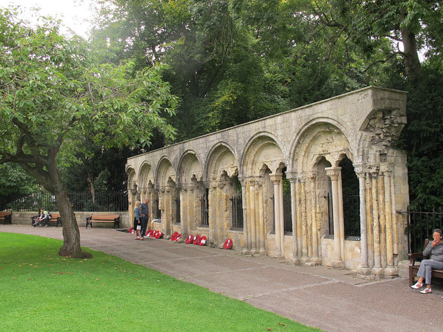 Remains of the Archbishop's palace in York