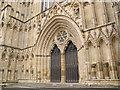 SE6052 : West Door of York Minster by Stephen Craven