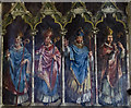 SK9771 : Wall painting, Lincoln Cathedral by Julian P Guffogg