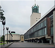 NZ2465 : Civic Centre, Barras Bridge, Newcastle (1) by Stephen Richards