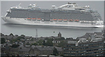 NS2776 : Cruise ship Royal Princess leaving Greenock by Thomas Nugent