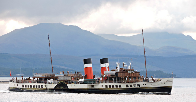 PS Waverley passing Port Glasgow