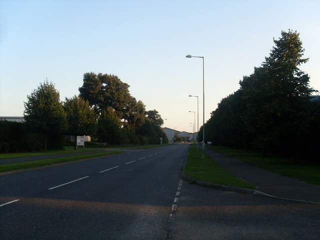 Looking South down Kempson Way